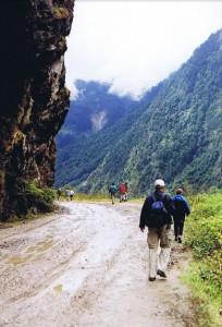 Wandelen dwars door de Himalaya...