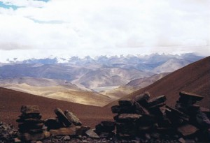 Uitzicht op de Himalaya...