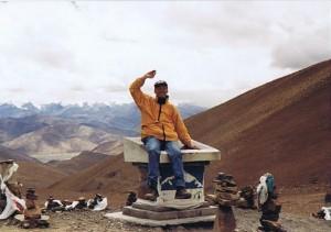De Wandelgek op de Pangla bergpas...