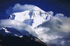 Mount Everest vanaf  Rongbuk...
