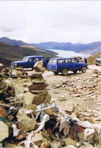 Yamdrok Tso gezien vanaf de Kampa La bergpas...