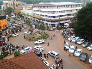 Roundabout in Kisii...