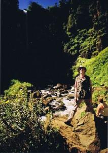 De wandelgek bij Thomson Falls...