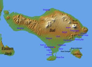 Vulkanen op Bali...
