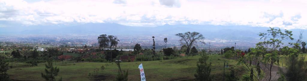 Uitzicht over Bandung