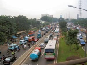 Jakarta verkeersopstopping