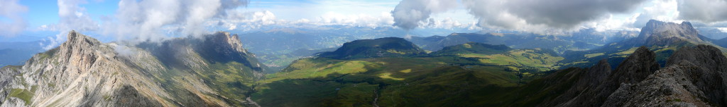 Panorama over de Seiser Alm...