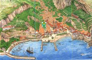 Kaart van Amalfi...