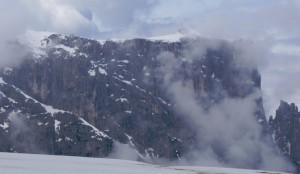De 2563 m. hoge Monte Pez gezien vanaf de Seizer Alm...