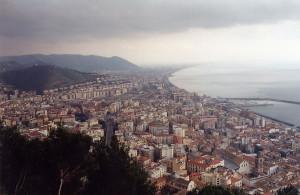 Zicht op Salerno...