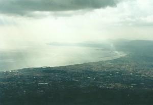 Prachtig uitzicht over de baai van Napels...
