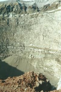 Blik in de krater...