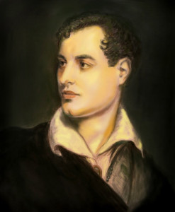 De dichter Lord Byron  (Londen, 22 januari 1788 – Mesolongi, 19 april 1824)
