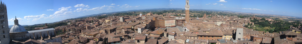 Uitzicht over Siena...