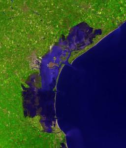 Satelietfoto van de Lagune...
