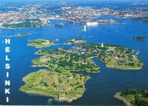 Suomenlinna voor de kust van Helsinki...