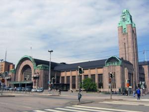 Vanaf dit mooie station vertrok de trein naar Sint Petersburg en weer terug...