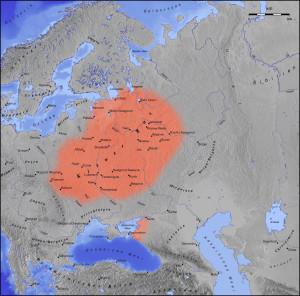 Het Kievse Rijk omstreeks het jaar 1000