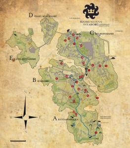 Kaart van Suomenlinna...