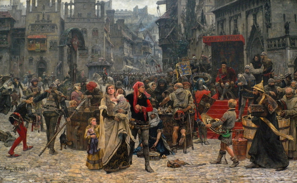 Belegering van Visby door de Deense koning Valdemar Atterdag om wille van losgeld...