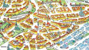 Kaart van de oude ommuurde binnenstad (Vanalinn)