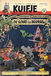 De schat van Beersel in Kuifje...