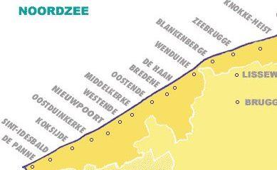 De Panne ten opzichte van de andere Belgische kustplaatsen...
