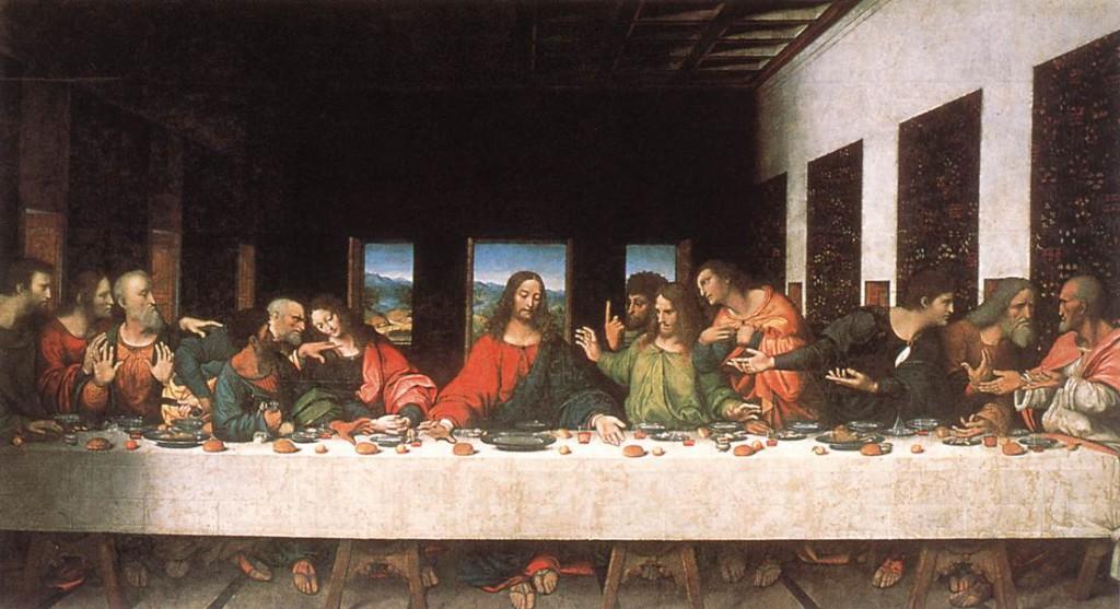Het laatste avondmaal - Kopie naar Leonardo da Vinci