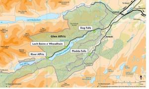 Kaart van Glen Affric...