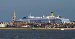 Aankomst van schepen bij Harwich...
