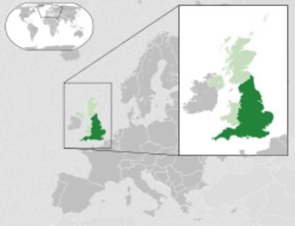 Engeland map