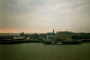 Harwich vanaf de veerboot...