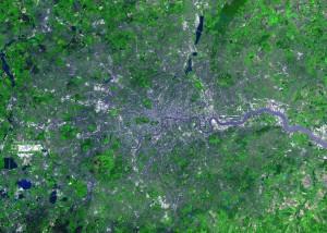 Luchtfoto van Groot-Londen...