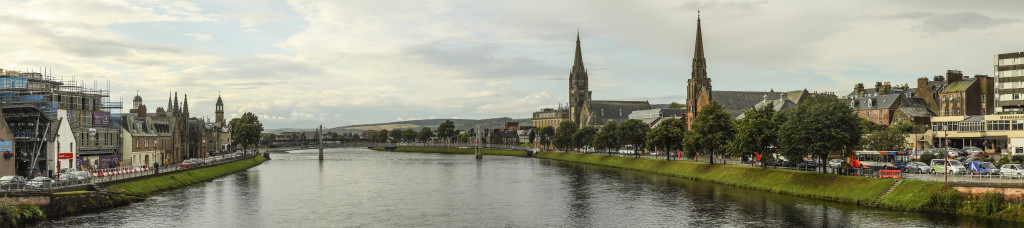 Panorama van Inverness...