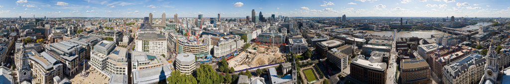 Londen gezien vanaf St. Pauls Cathedral...