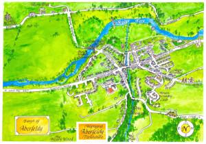 Kaart van Aberfeldy...
