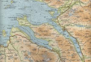 Kaart van Ullapool...