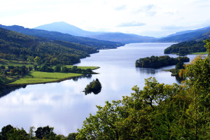 Queen's View over Loch Tummel...