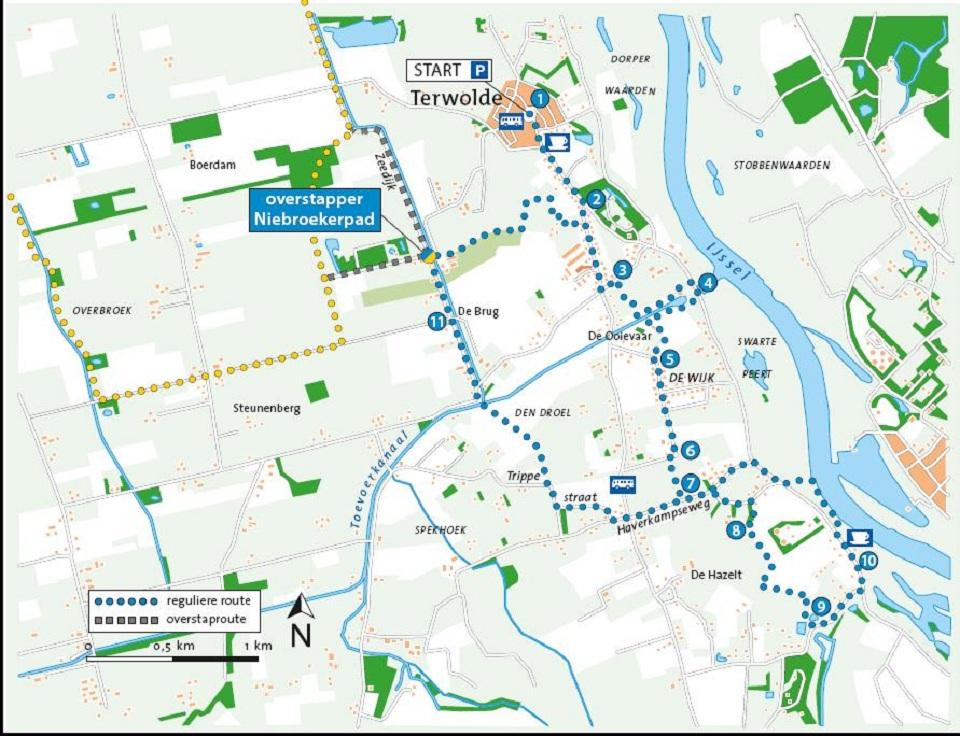 Tuylermarkerpad_routekaart