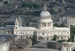 Luchtfoto van Saint Paul's Cathedral...
