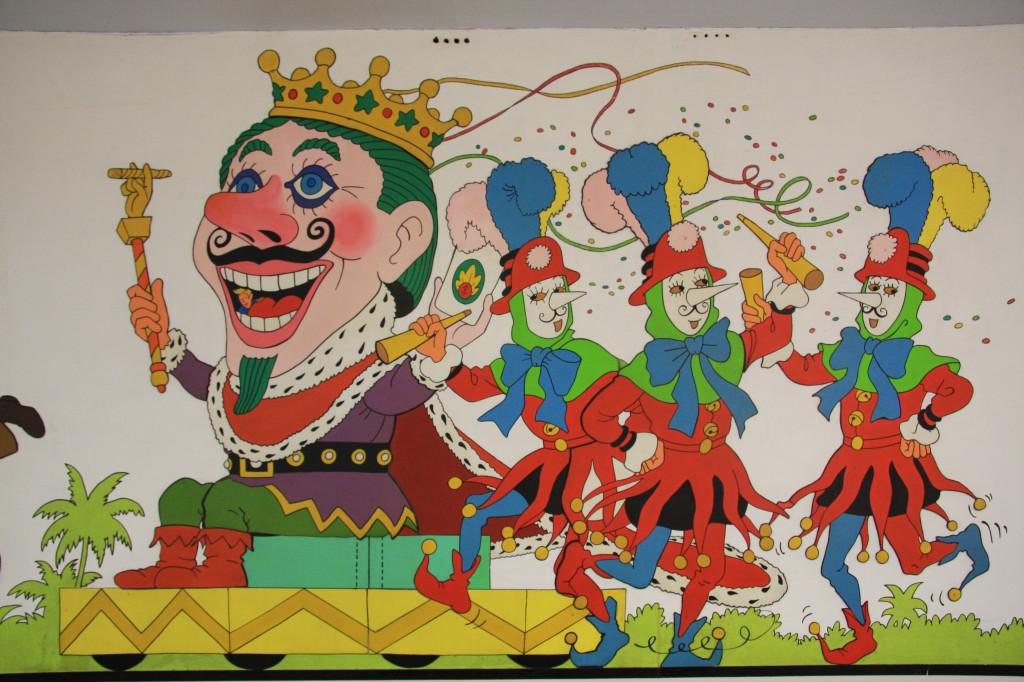 Muurschildering in Brussel...