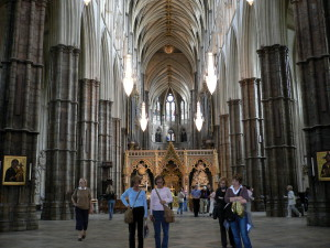 Interieur van Westminster Abbey...