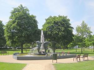 Fontein in het Julianapark...