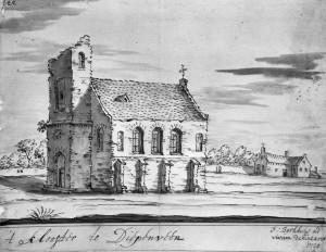 Reproductie uit 1720 naar een tekening van F.Berkhuys