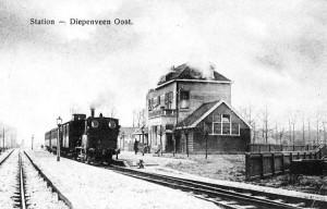 Het voormalige station Diepenveen-Oost...