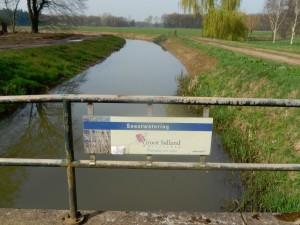De Soestwetering beheerd door Waterschap Salland...