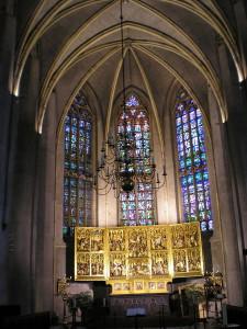 Interieur van de Grote of Sint Martinuskerk...