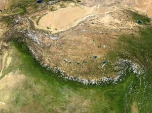 Himalaya gebergte...