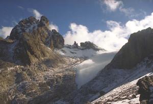 Gletscher op Mount Kenya...