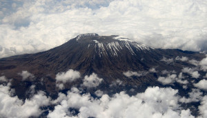 Krater van de Kilimanjaro...
